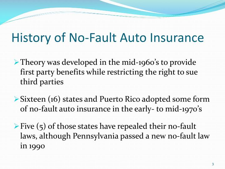 History of no fault auto insurance l.jpg