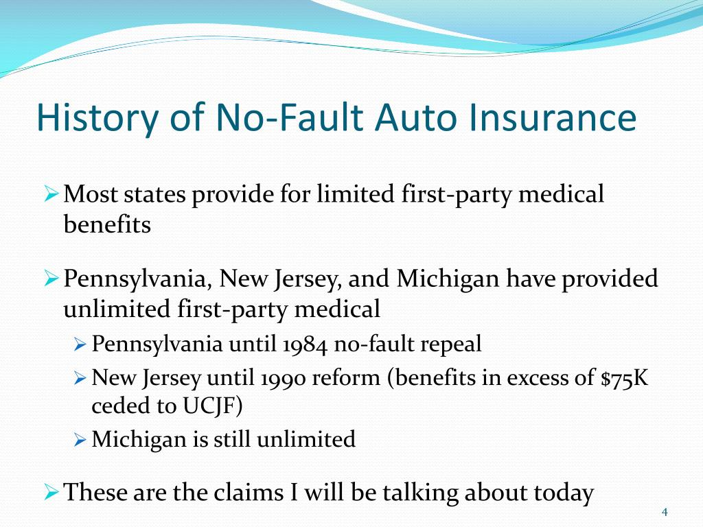 History of No-Fault Auto Insurance