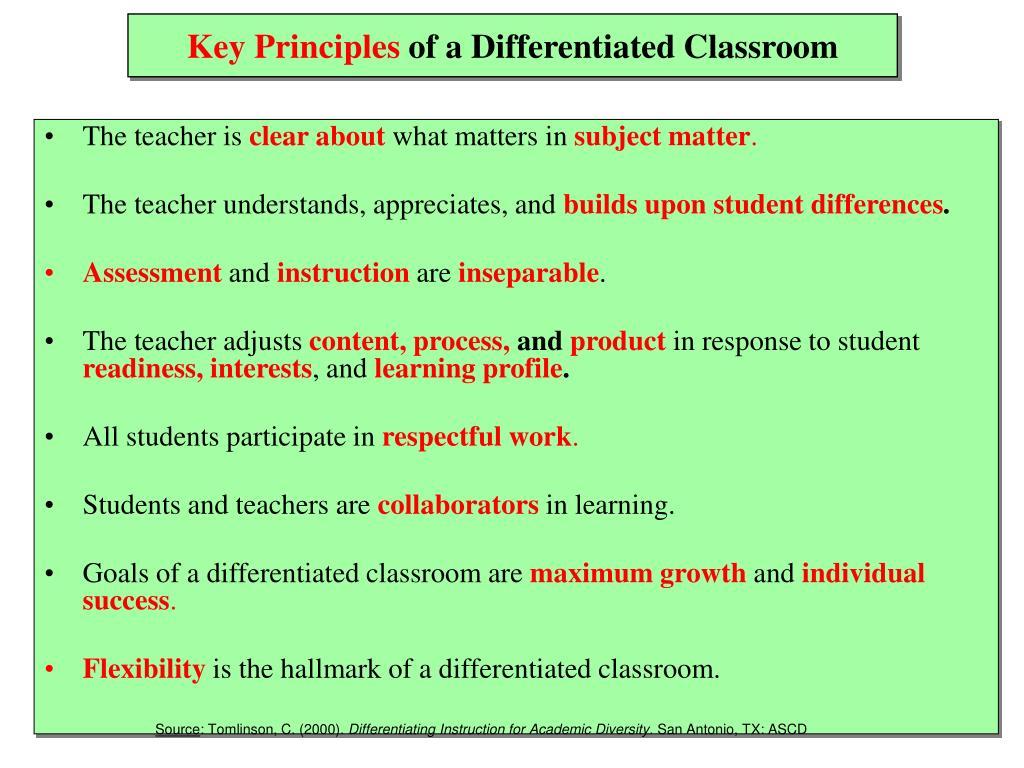 carol ann tomlinson differentiated instruction powerpoint