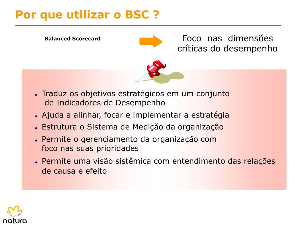 Por que utilizar o BSC ?