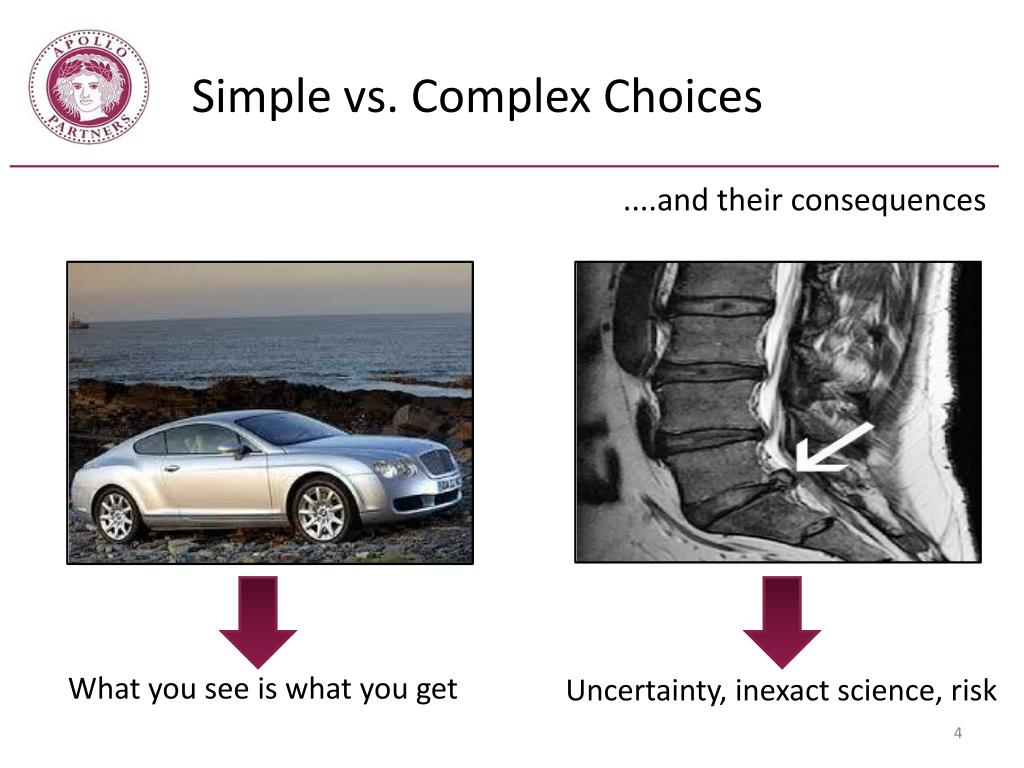 Simple vs. Complex Choices