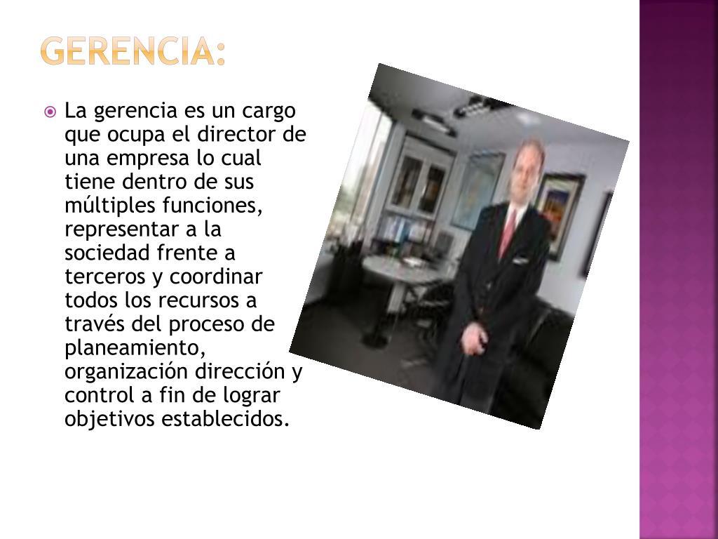 Gerencia: