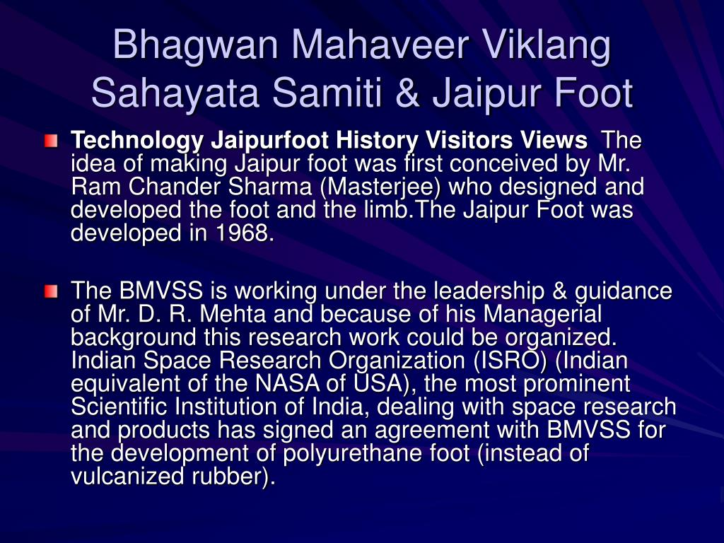Bhagwan Mahaveer Viklang Sahayata Samiti & Jaipur Foot