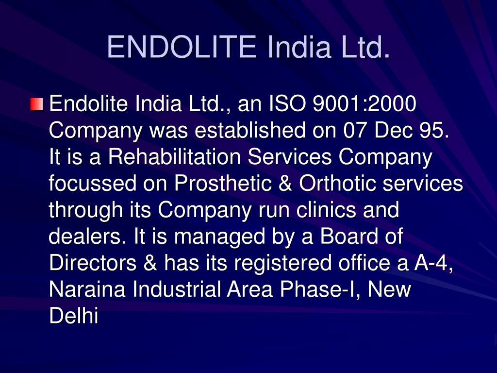 ENDOLITE India Ltd.