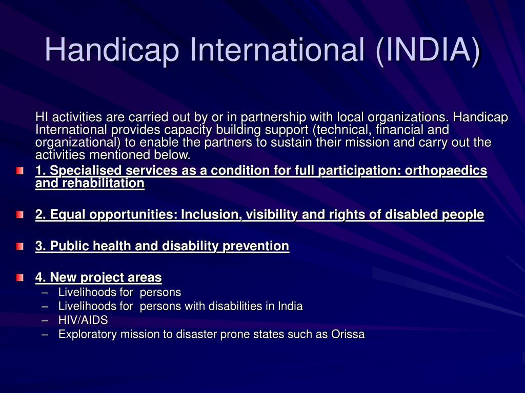 Handicap International (INDIA)