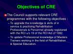 objectives of cre