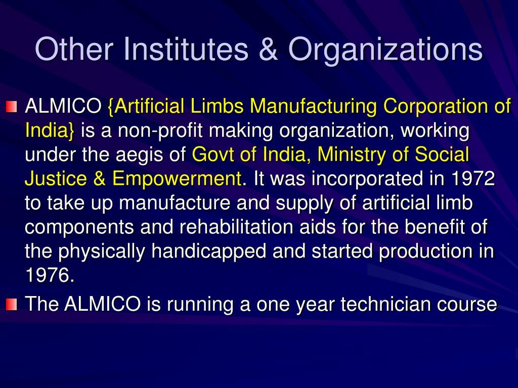 Other Institutes & Organizations