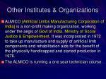 other institutes organizations