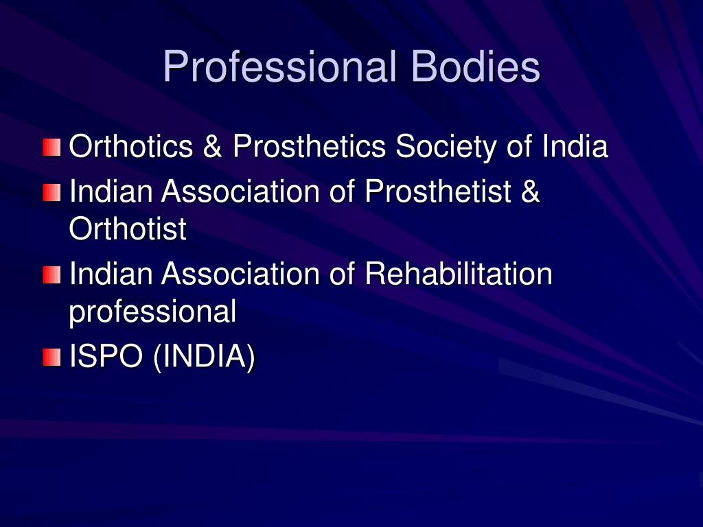 Professional Bodies