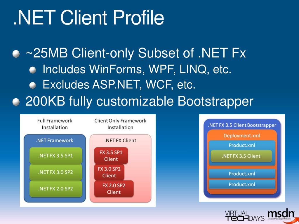 .NET Client Profile