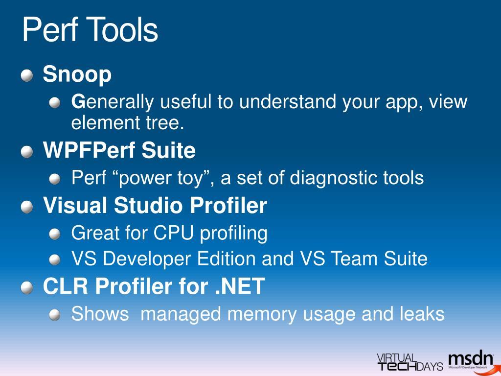 Perf Tools