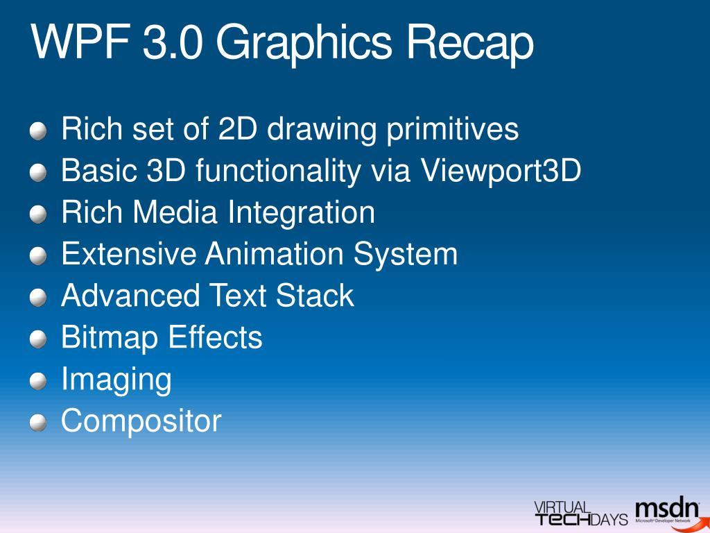 WPF 3.0 Graphics