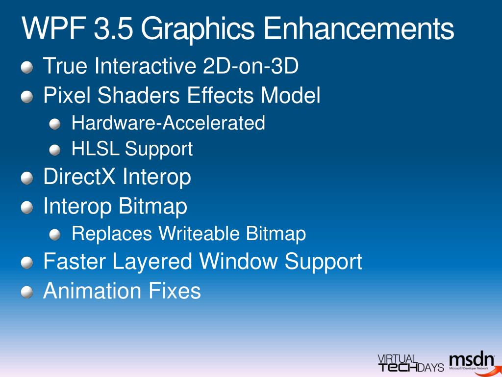 WPF 3.5 Graphics