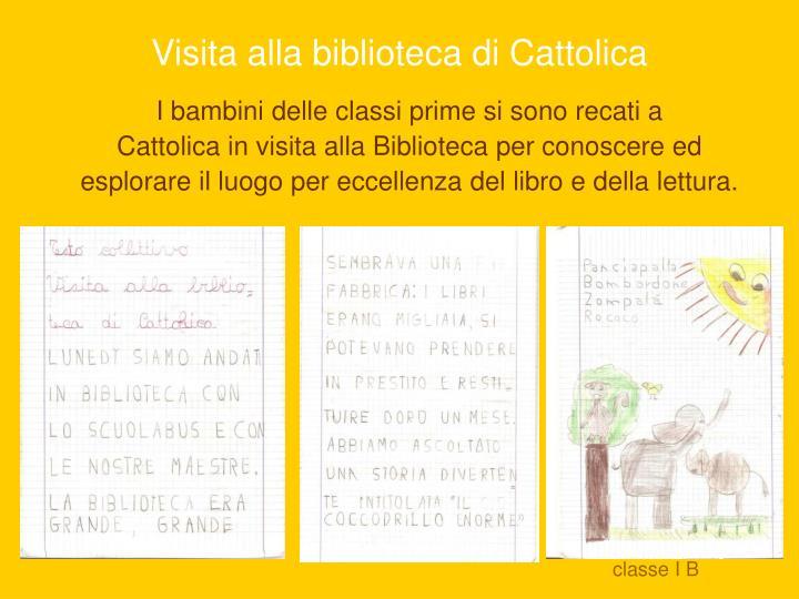 Visita alla biblioteca di Cattolica
