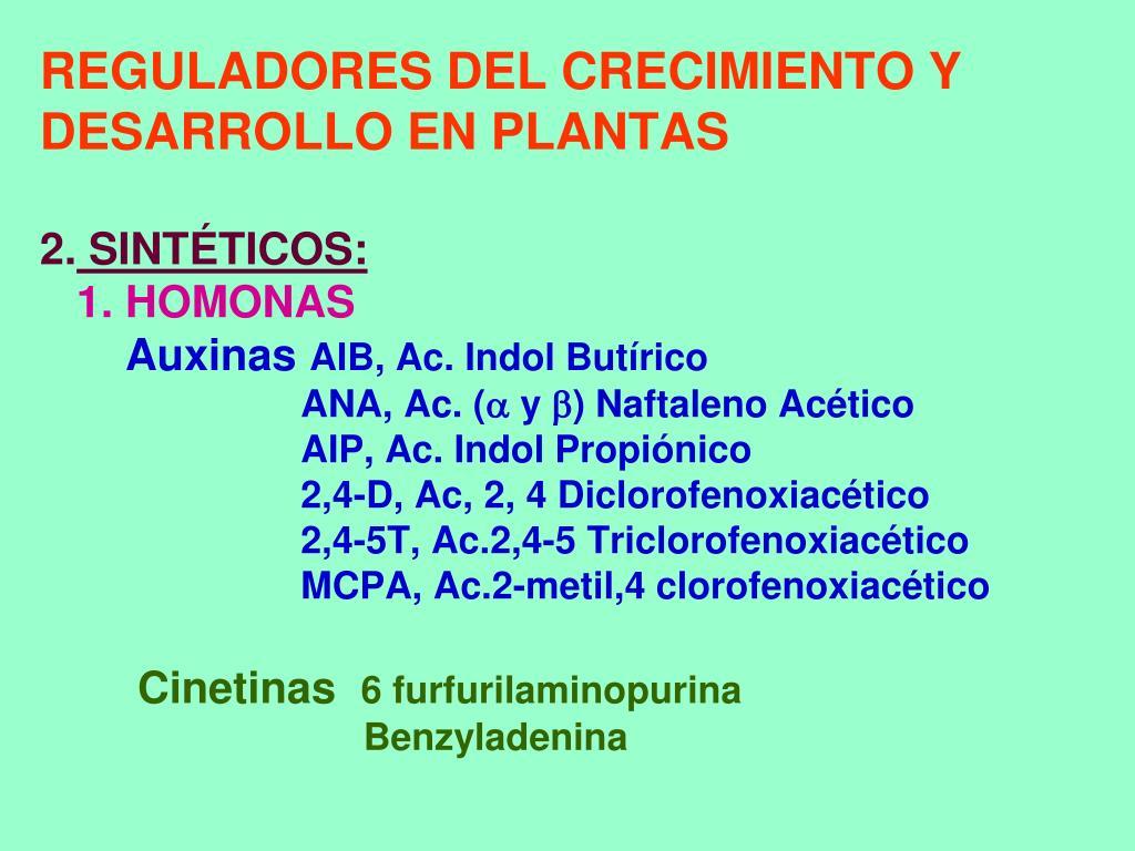 REGULADORES DEL CRECIMIENTO Y  DESARROLLO EN PLANTAS