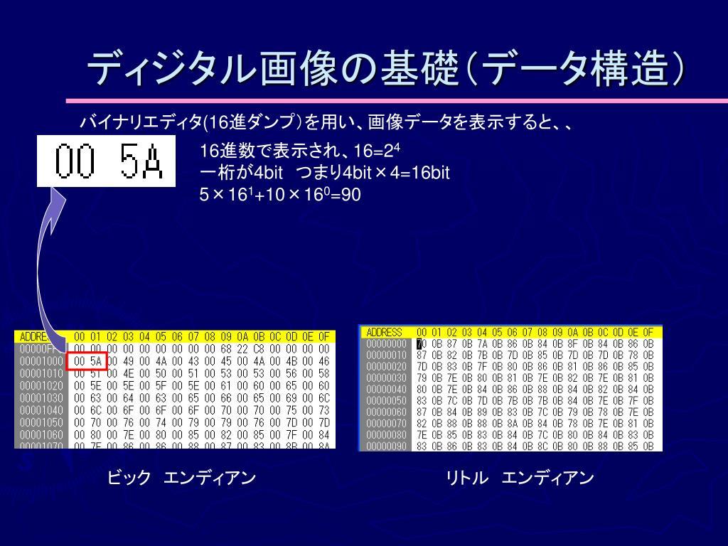 ディジタル画像の基礎(データ構造)