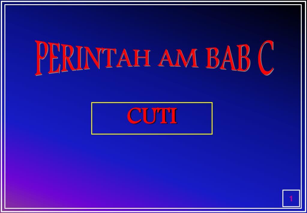 PERINTAH AM BAB C