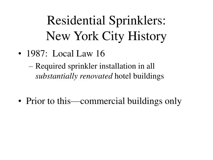 Residential sprinklers new york city history2