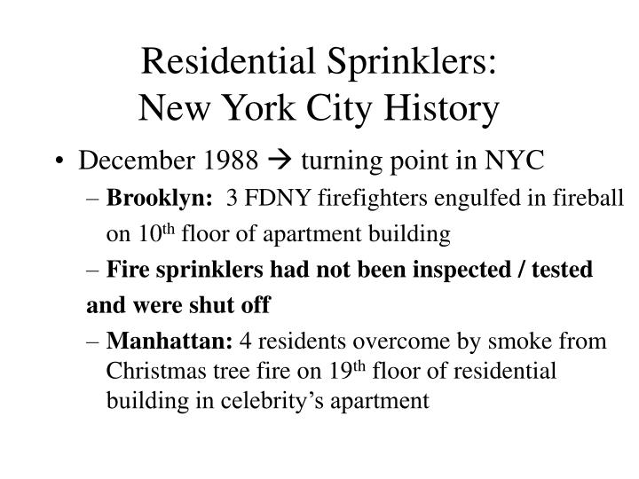 Residential sprinklers new york city history3