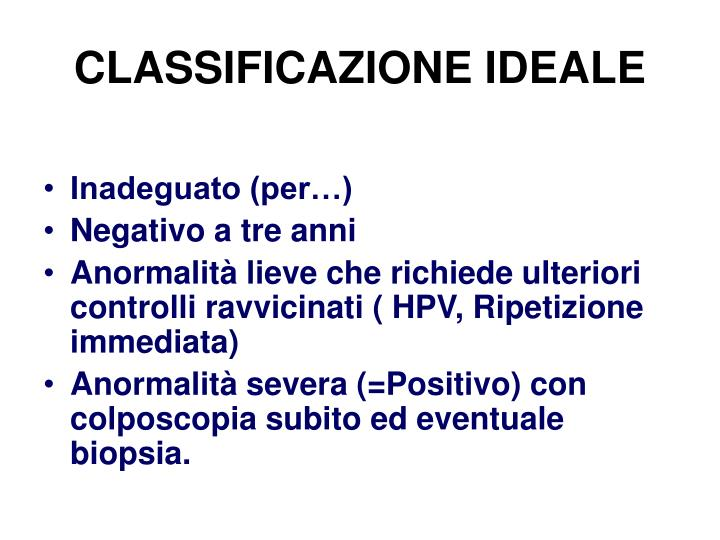 CLASSIFICAZIONE IDEALE