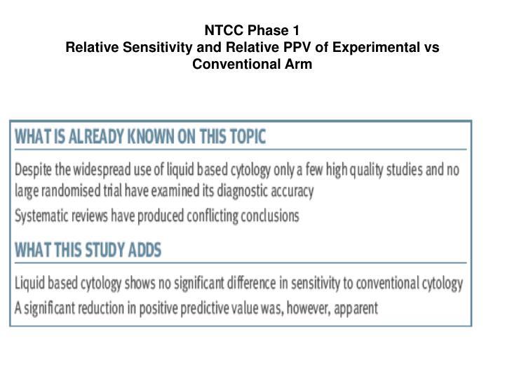 NTCC Phase 1