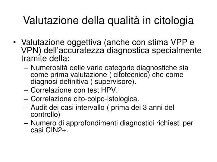 Valutazione della qualità in citologia
