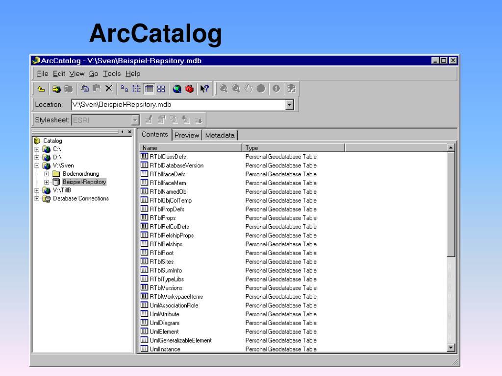 ArcCatalog