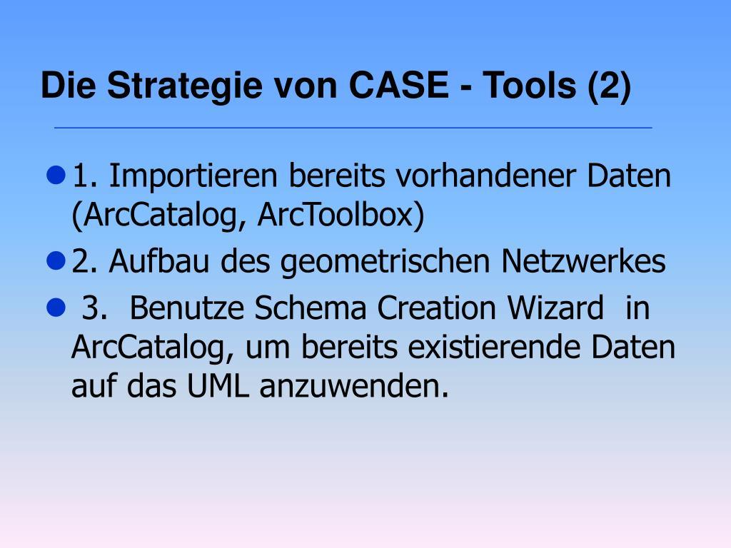 Die Strategie von CASE - Tools (2)