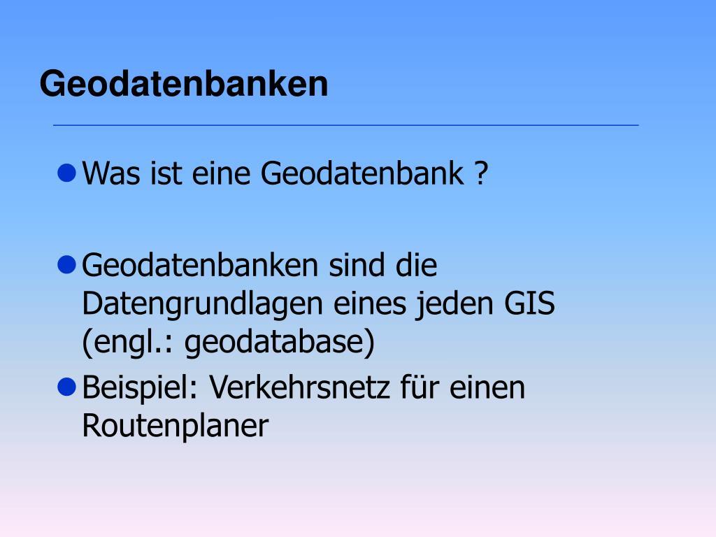 Geodatenbanken