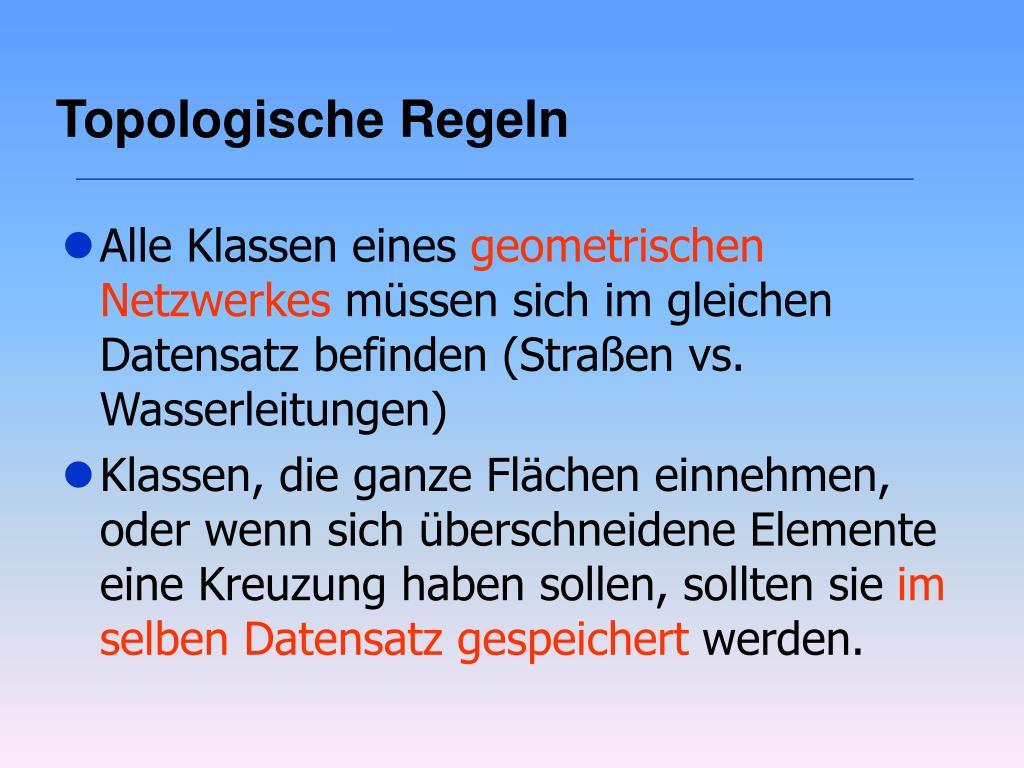Topologische Regeln