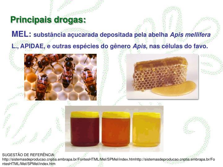 Principais drogas: