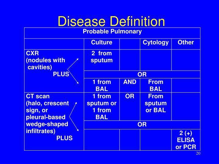 Disease Definition