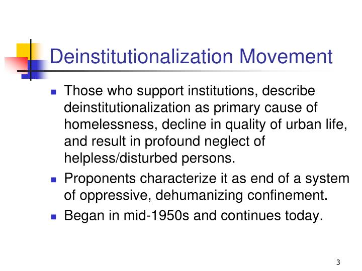Deinstitutionalization movement
