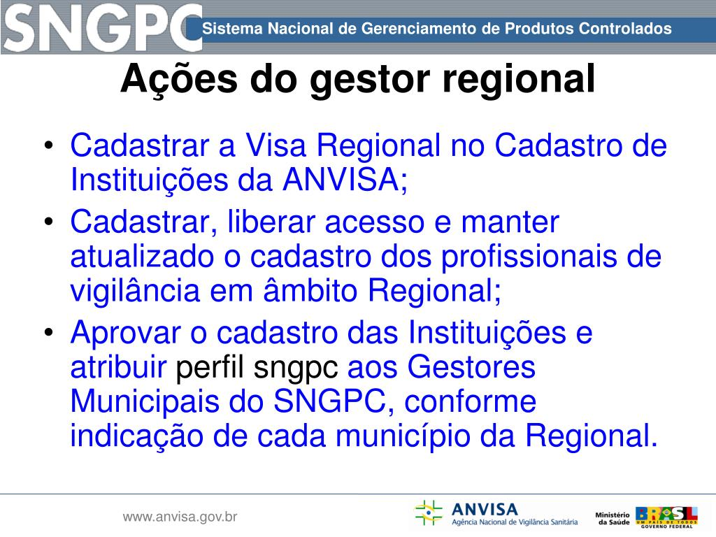 Cadastrar a Visa Regional no Cadastro de Instituições da ANVISA;