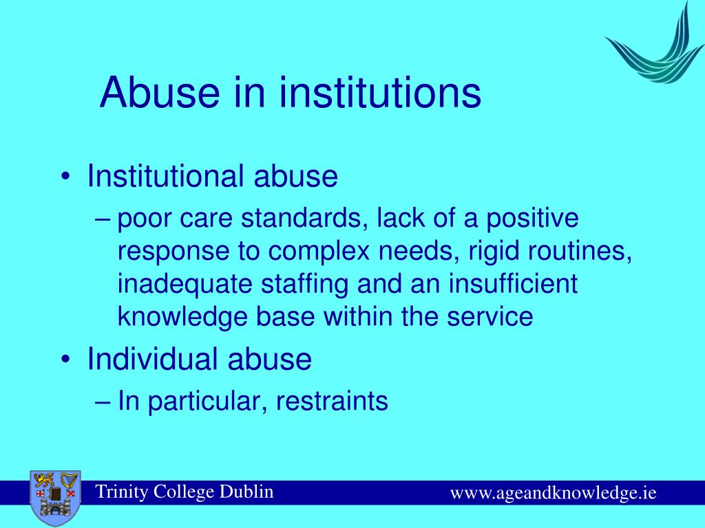 Abuse in institutions
