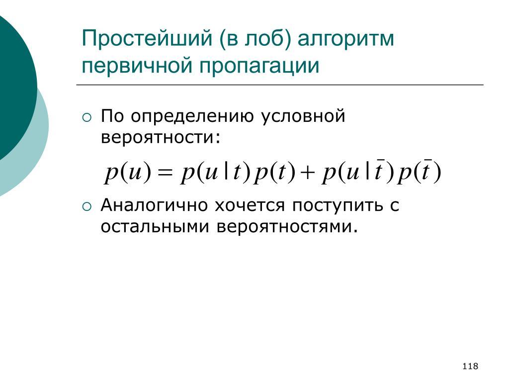 Простейший (в лоб) алгоритм первичной пропагации