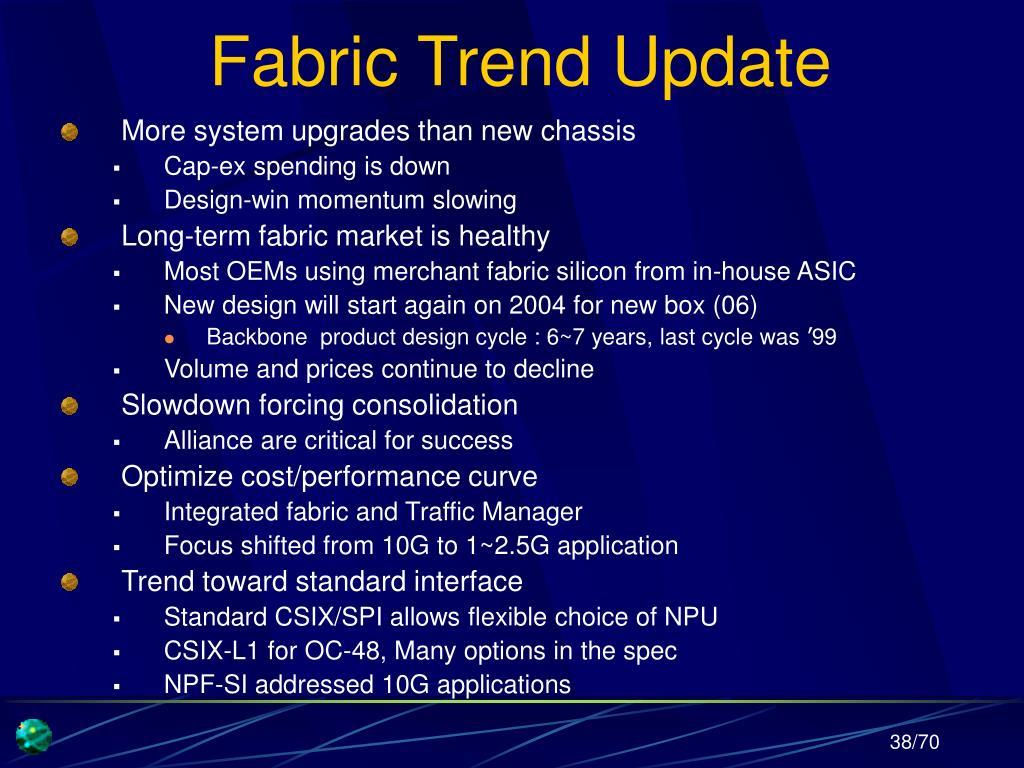 Fabric Trend Update