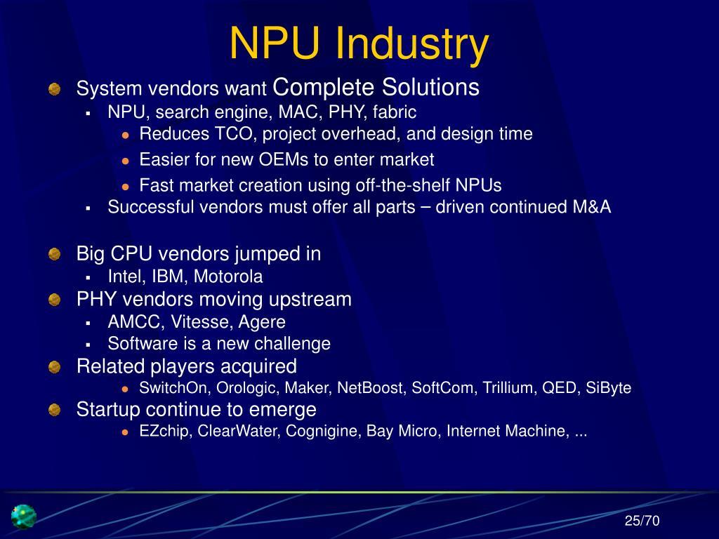 NPU Industry