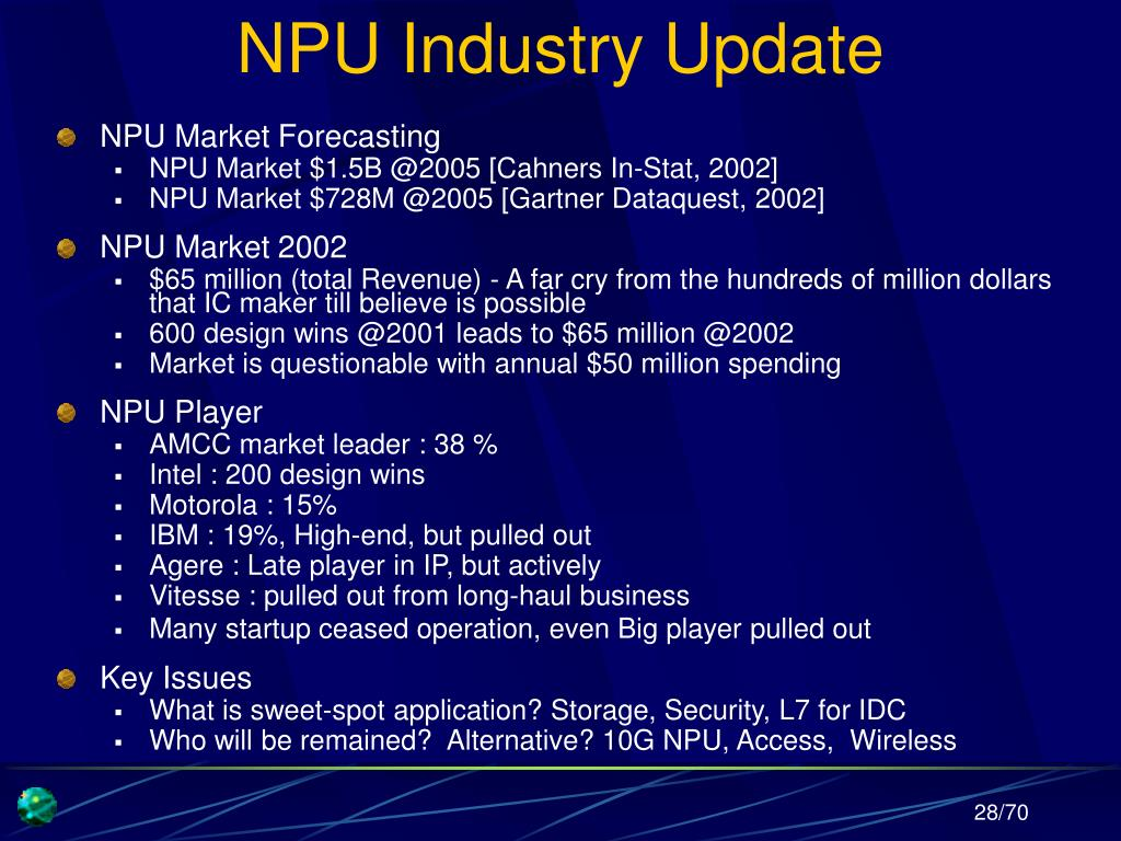 NPU Industry Update