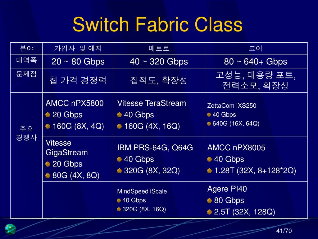 Switch Fabric Class