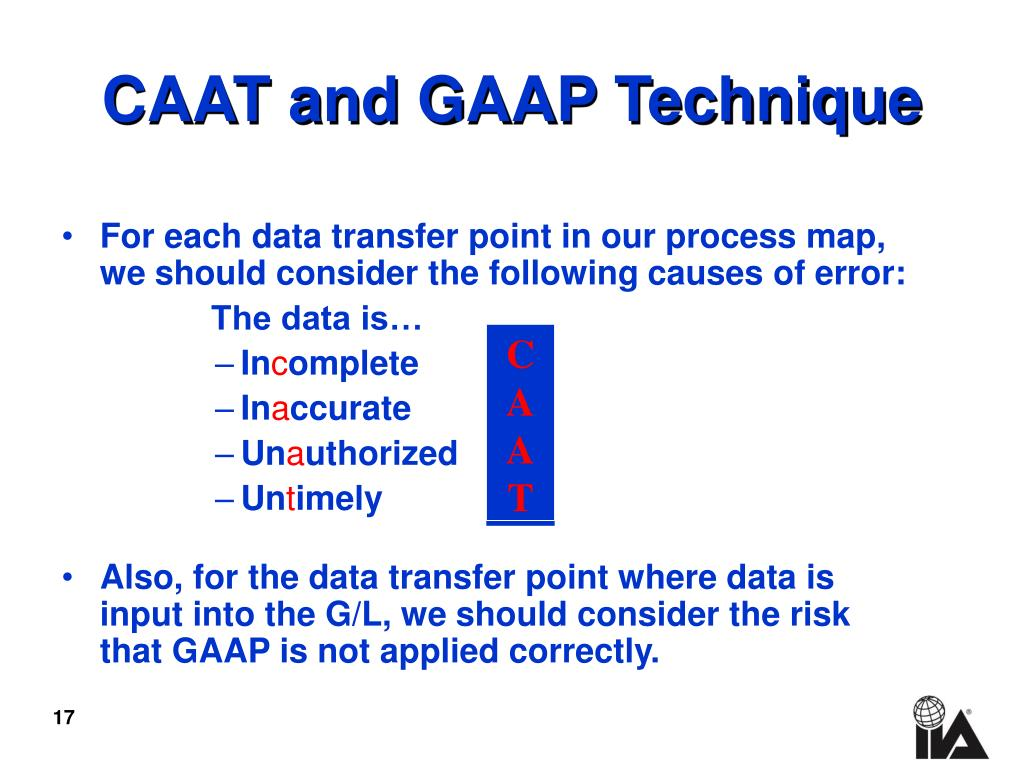 CAAT and GAAP Technique