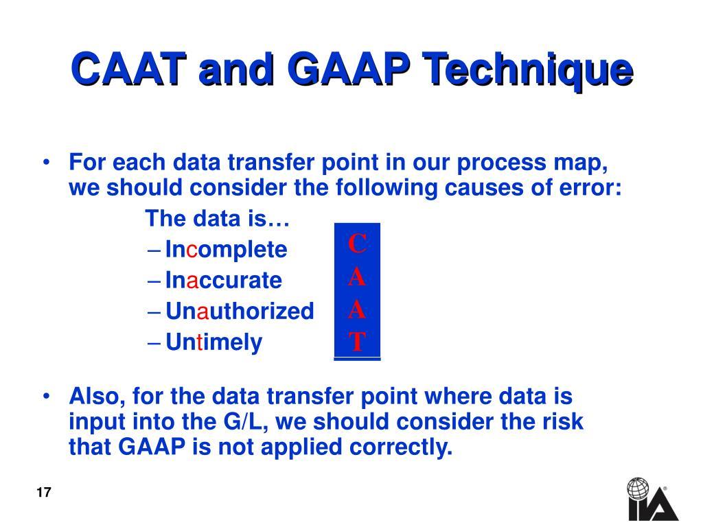 CAAT and GAAP Technique