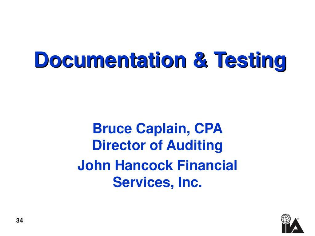 Documentation & Testing