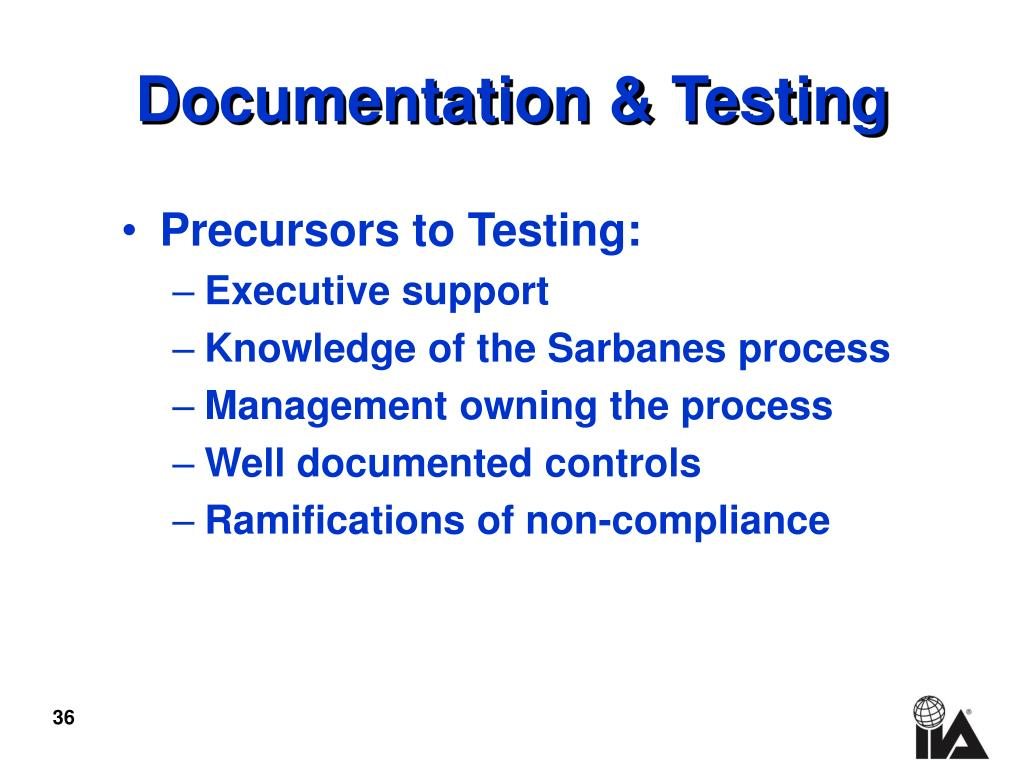 Documentation & Testing