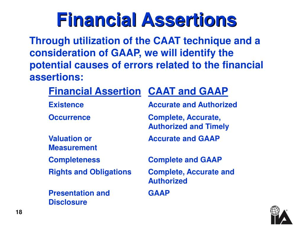Financial Assertions