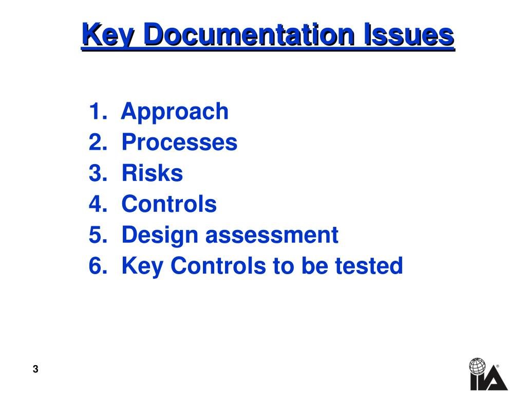 Key Documentation Issues