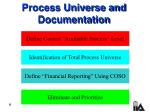 process universe and documentation8