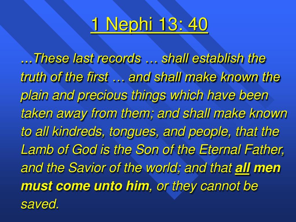 1 Nephi 13: 40