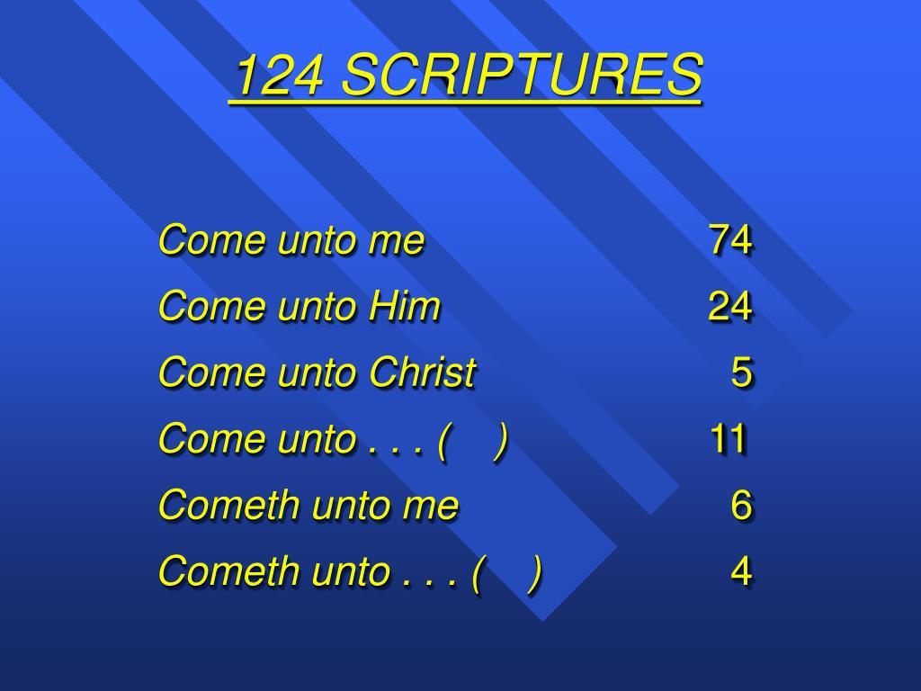 124 SCRIPTURES