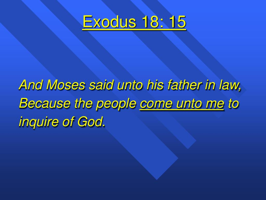 Exodus 18: 15